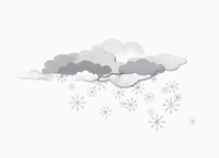 Some clouds and snow flakes against white background 11016027609| 写真素材・ストックフォト・画像・イラスト素材|アマナイメージズ