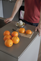 Oranges and juice extractor