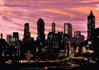 Illustrative image of illuminated cityscape at night