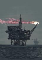 Illustrative image of oil rig drilling in sea