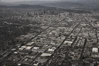 Aerial view of LA cityscape, California