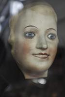 Close-up of female statue