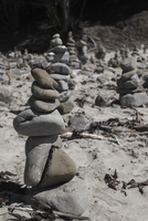 Stack of pebbles at beach