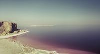 Scenic view Urmia lake against clear sky, Iran