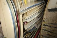 Full frame shot of surfboards