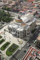 High angle view of Palacio de Bellas Artes