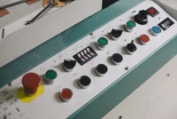 High angle view of a control panel in a factory