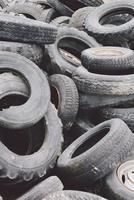 Full frame shot of dumped tires