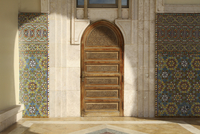 Wooden door at Hassan II Mosque