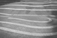 Full frame shot of asphalt with white markings