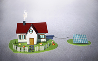 Illustrative image of house with solar panel