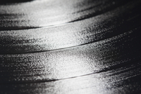 Close-up of black record