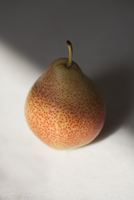 High angle view of pear on white background