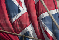 Close-up of British flag canvas
