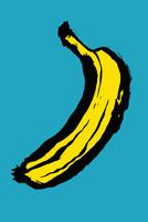 Illustration of banana against blue background