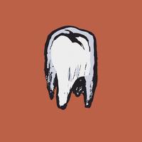 Illustrative image of tooth on orange background