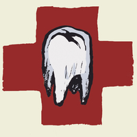 Illustrative image of tooth against international red cross