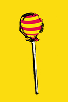 Illustration of lollipop on yellow background