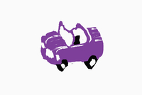Illustrative image of purple car against white background