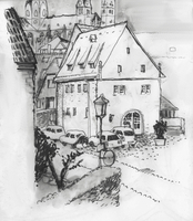 Illustrative image of houses in town