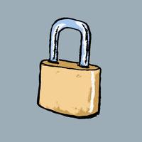 Illustration of padlock against gray background