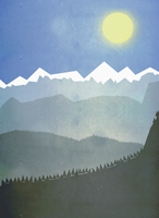 Illustrative image of mountains on sunny day
