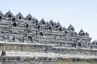 Exterior of Borobudur against clear sky