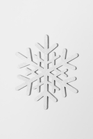 Close-up of snowflake against white background