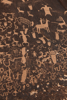 Full frame shot of rock paintings, Monticello, San Juan Country, Utah, USA