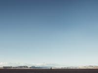 Scenic view  of landscape against clear blue sky, Zzyzx, California, USA 11016034429| 写真素材・ストックフォト・画像・イラスト素材|アマナイメージズ