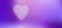 Digitally generated image of spotted heart against purple background