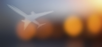 Spot patterned airplane over soft defocused background