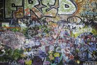 Full frame shot of graffiti on wall 11016035378  写真素材・ストックフォト・画像・イラスト素材 アマナイメージズ
