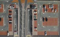 Directly above shot of cars in parking lot 11016035393  写真素材・ストックフォト・画像・イラスト素材 アマナイメージズ