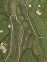 Aerial view of golf course, Hohenheim, Stuttgart, Baden-Wuerttemberg, Germany 11016035483  写真素材・ストックフォト・画像・イラスト素材 アマナイメージズ