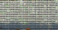 Full frame shot of residential building, Stuttgart, Baden-Wuerttemberg, Germany 11016035505  写真素材・ストックフォト・画像・イラスト素材 アマナイメージズ