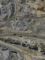 Full frame shot of open-pit mine