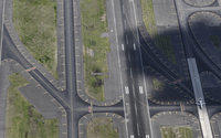 Full frame shot of airport runway, Newark, New Jersey, USA 11016035521  写真素材・ストックフォト・画像・イラスト素材 アマナイメージズ