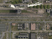 Aerial view of industrial buildings, North Rhine-Westphalia, Germany 11016035566| 写真素材・ストックフォト・画像・イラスト素材|アマナイメージズ