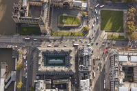 Directly above view of Westminster Bridge and Big Ben, London, England, UK 11016035575| 写真素材・ストックフォト・画像・イラスト素材|アマナイメージズ