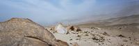 Panoramic view of cave painting on rock in desert, Toro Muerto Petroglyphs, Peru 11016035629| 写真素材・ストックフォト・画像・イラスト素材|アマナイメージズ