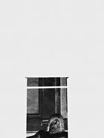 Negative image of stone statue seen through window, Rome, Italy 11016035872| 写真素材・ストックフォト・画像・イラスト素材|アマナイメージズ