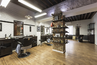 Interior of barber shop 11016036176| 写真素材・ストックフォト・画像・イラスト素材|アマナイメージズ