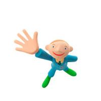 片手を上げる男の子 クラフト 11017000010| 写真素材・ストックフォト・画像・イラスト素材|アマナイメージズ