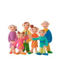 仲のよい家族 クラフト 11017000022  写真素材・ストックフォト・画像・イラスト素材 アマナイメージズ
