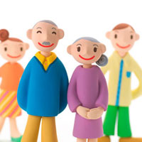 仲のよい家族 クラフト 11017000025  写真素材・ストックフォト・画像・イラスト素材 アマナイメージズ