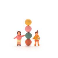 球体と人のオブジェ クラフト