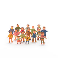 人々のオブジェ クラフト 11017000135| 写真素材・ストックフォト・画像・イラスト素材|アマナイメージズ