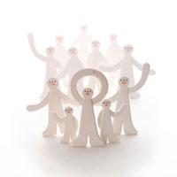 人の集合体 クラフト 11017000155| 写真素材・ストックフォト・画像・イラスト素材|アマナイメージズ