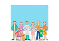 医者と看護師と家族 クラフト
